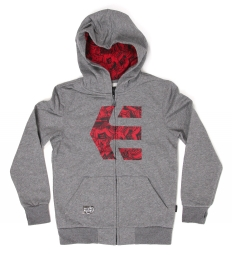 Etnies icon fill zip fleece yth grey heather s