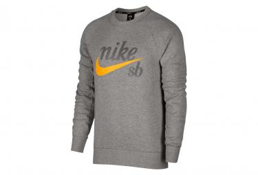 Nike SB Icon Sweat Grey / Orange