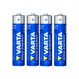 Lot de 4 piles alcaline lr03 aaa 1 5 v high energy varta