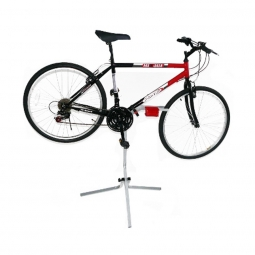 Pied de réparation vélo avec bac de rangement