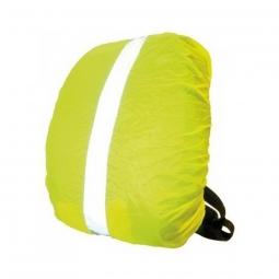 Housse sac a dos securite jaune reflechissant pour velo ou jogger