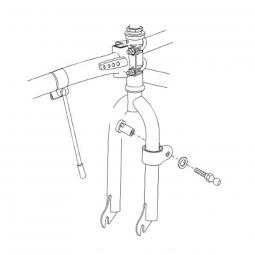 Colliers de fixation pour Trail Gator sur vélo enfant