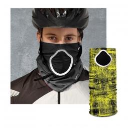 Foulard anti pollution et pollen pour cycliste jaune had