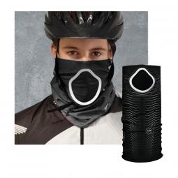 Foulard anti pollution et pollen pour cycliste noir parametric had