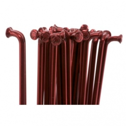 RAYONS ECLAT DOUBLE BUTTED 192mm METALLIC RED (X50)