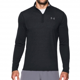 Tee shirt a manches longues under armour threadborne fitted 1 4 zip xl