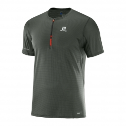 Tee shirt technique de running salomon agile hz ss tee m xl