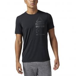 Tee shirt reebok activchill zoned graphic l