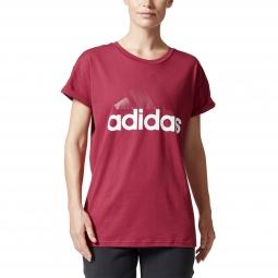 Tee-shirt à manches courtes Adidas Performance Essential Linear Logo Tee W