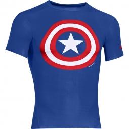 Haut de compression under armour alter ego captain america l