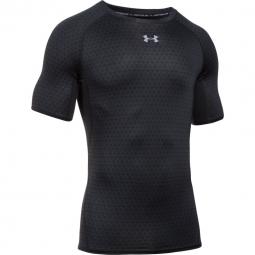 T shirt de compression under armour heatgear compression printed ss l