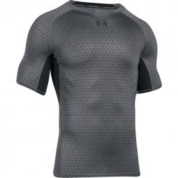T shirt de compression under armour heatgear compression printed ss s