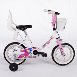 Velo enfant kitty 12 blanc rose