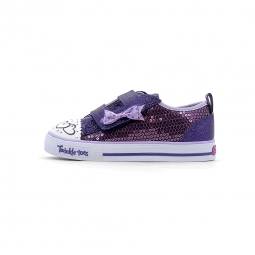 Baskets basses skechers twinkle toes shuffles itsy bitsy 22