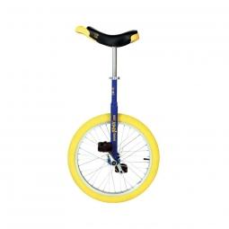 Monocycle qu ax 20 luxus bleu avec jante en alu pneu jaune