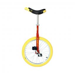 Monocycle qu ax 20 luxus rouge avec jante en alu pneu jaune