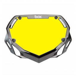 Plaque box two mini white et yellow chrome black