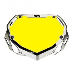 Plaque BOX two mini white et yellow/chrome silver