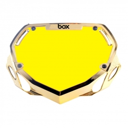 Plaque box two mini white et yellow chrome gold