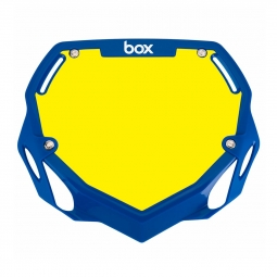 Plaque BOX two pro white et yellow/blue