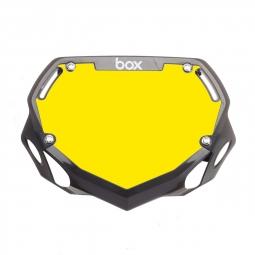 Plaque BOX two mini white et yellow/gloss black