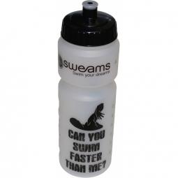 Bidon SWEAMS Can you swim faster than me - 750ml - Clear Black