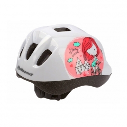 Polisport Casque Enfants Kids (46-53 cm) - Princesse Blanc/Rose