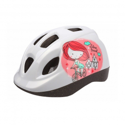 Polisport casque enfants kids 46 53 cm princesse blanc rose