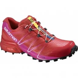 Chaussures de trail femme salomon speedcross pro w poppy red