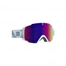 Masque de ski salomon xview white multilayer