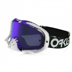 Masque vtt oakley crowbar fr splatter gm purple ecran violet clear