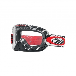 Masque de vtt oakley o2 mx skull rushmore red clear