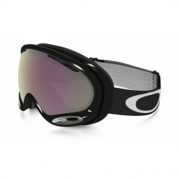 Masque de ski oakley a frame 2 0 jet black hi pink iridium