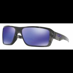 Lunettes de soleil double edge matte black tortoise violet iridium