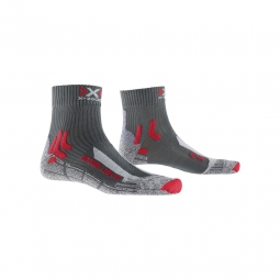 Chaussettes x socks outdoor low cut anth rouge 39 41