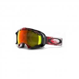 Masque de ski oakley splice hyperdrive red black fire iridium