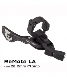 Commande tige de selle wolf tooth remote light action pour cintre 22 2mm noir