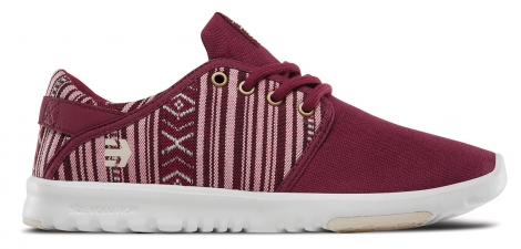 Baskets basses etnies scout wos burgundy tan 37