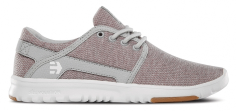 Baskets basses etnies scout wos pink white grey 38
