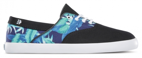 Baskets basses etnies corby wos black white print 38 1 2
