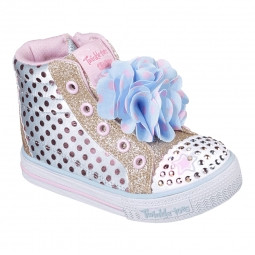 Baskets basses skechers twinkle toes shuffles flower run 24