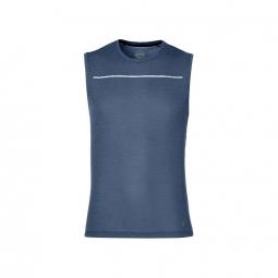 T shirt sans manches asics lite show sleeveless bleu l
