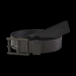 Ceinture fox briaricliff leather belt black