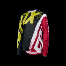 Maillot de vtt fox demo jersey yellow black m