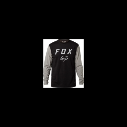 Maillot fox contended ls tech tee black s