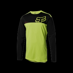 Maillot de vtt fox attack pro yellow black m