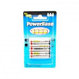 Piles rechargeables PowerBase AAA R03 Ni-MH 1000 mAh - par 4