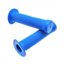 Poignee velo bmx grip bleu l130 mm paire