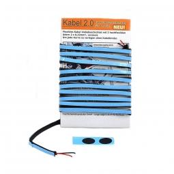 Cable electrique autocollant pour eclairage velo 2 metres