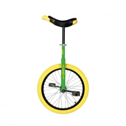 Monocycle qu ax 20 luxus vert jante alu pneu jaune